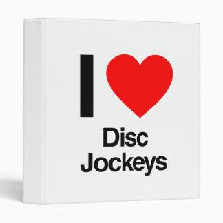 i love disc jockeys vinyl binders
