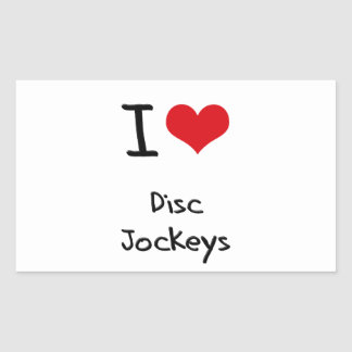 I Love Disc Jockeys Sticker