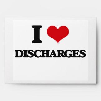I love Discharges Envelopes
