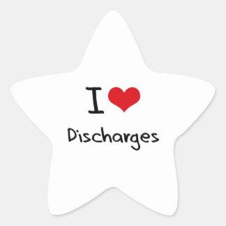 I Love Discharges Star Sticker