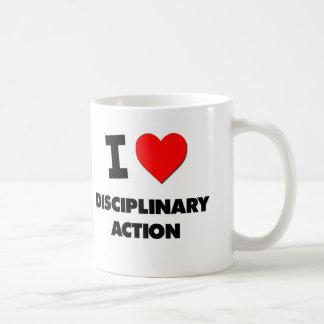 I Love Disciplinary Action Classic White Coffee Mug