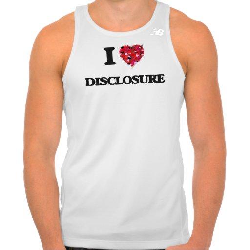 I love Disclosure T Shirts Tank Tops, Tanktops Shirts