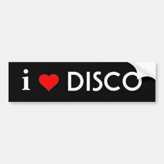 I Love Disco Car Bumper Sticker