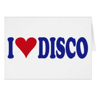 I Love Disco Card