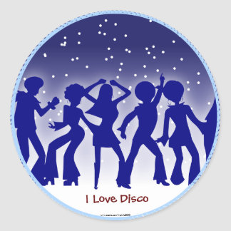 I Love Disco Classic Round Sticker