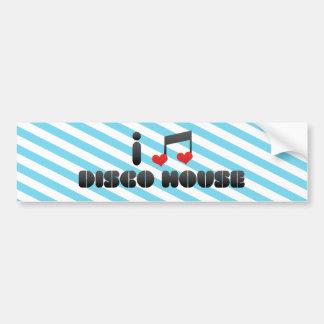 I Love Disco House Bumper Sticker