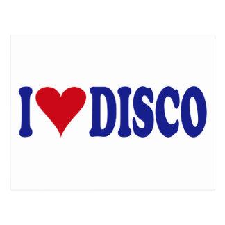 I Love Disco Post Cards