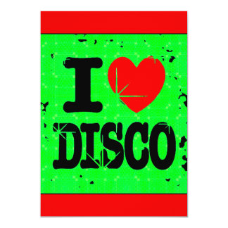 """I_Love_Discogreen Invitación 5"""" X 7"""""""