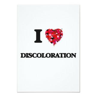 I love Discoloration 5x7 Paper Invitation Card