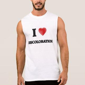 I love Discoloration Sleeveless Shirt