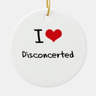 I Love Disconcerted Double-Sided Ceramic Round Christmas Ornament