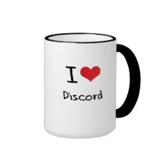 I Love Discord Ringer Coffee Mug