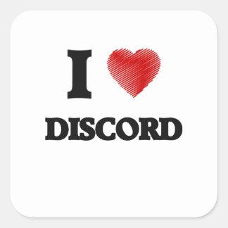 I love Discord Square Sticker
