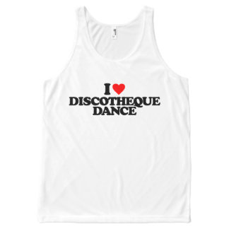 I LOVE DISCOTHEQUE DANCE All-Over-Print TANK TOP