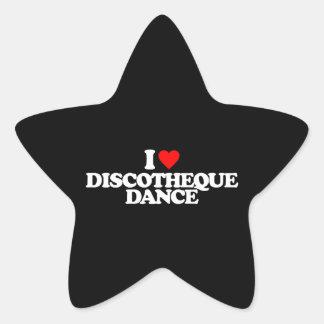 I LOVE DISCOTHEQUE DANCE STAR STICKER