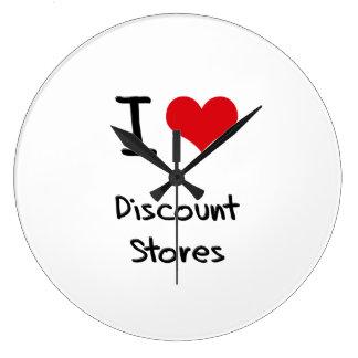 I Love Discount Stores Clock