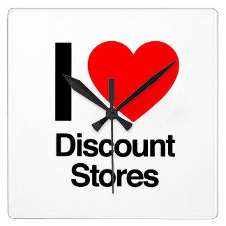 i love discount stores wall clock