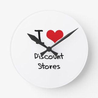 I Love Discount Stores Wallclock