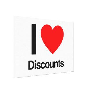 i love discounts canvas print