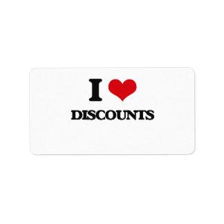 I love Discounts Custom Address Label