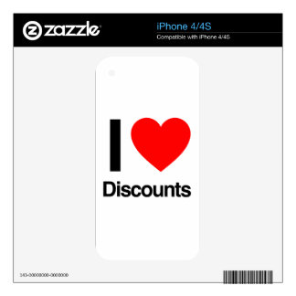 i love discounts skins for iPhone 4