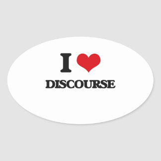 I love Discourse Oval Stickers