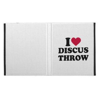 I love Discus throw iPad Folio Cases