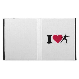 I love Discus throw iPad Folio Case