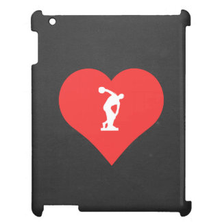 I Love Discus Throwing Cool Symbol Cover For The iPad 2 3 4