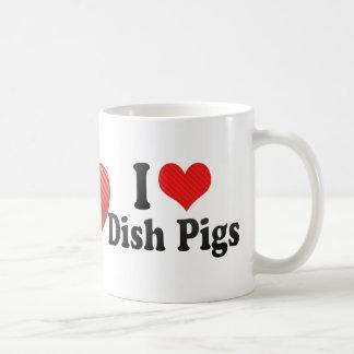 I Love Dish Pigs Coffee Mug