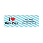 I Love Dish Pigs Return Address Label