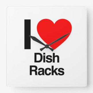 i love dish racks wall clock