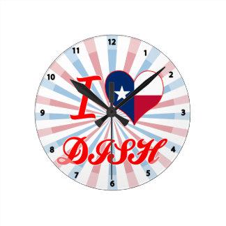 I Love DISH, Texas Round Wallclock