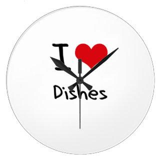 I Love Dishes Clock