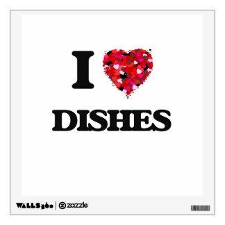 I love Dishes Wall Skins