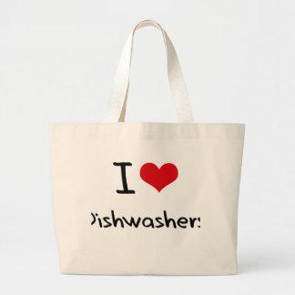 I Love Dishwashers Canvas Bag