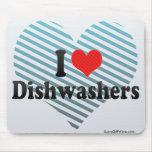 I Love Dishwashers Mouse Pad