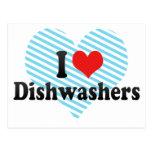 I Love Dishwashers Postcard