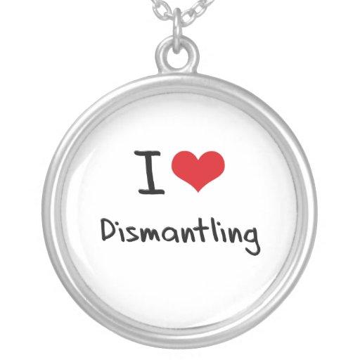 I Love Dismantling Round Pendant Necklace