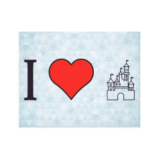 I Love Disneyland Canvas Print