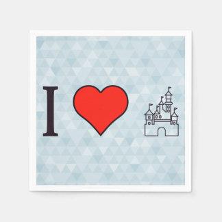 I Love Disneyland Napkin