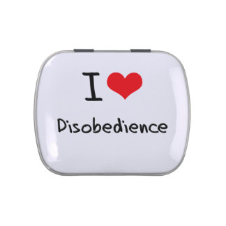 I Love Disobedience Jelly Belly Tin