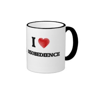 I love Disobedience Ringer Mug