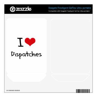 I Love Dispatches FreeAgent GoFlex Skin