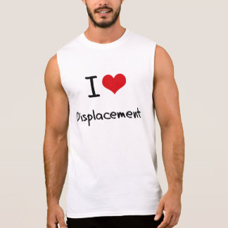 I Love Displacement Sleeveless Tees