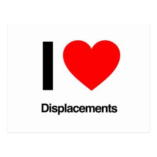 i love displacements postcards