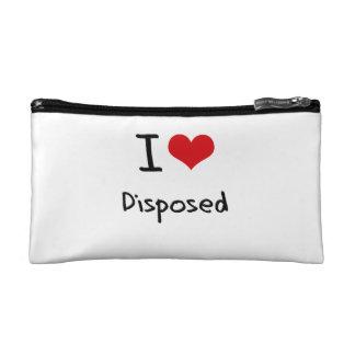 I Love Disposed Makeup Bags
