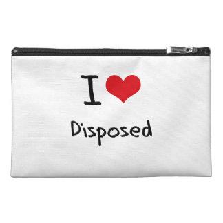 I Love Disposed Travel Accessory Bag