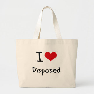 I Love Disposed Canvas Bags