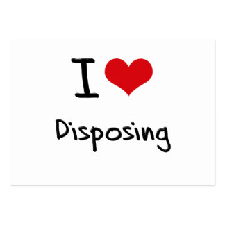 I Love Disposing Large Business Cards (Pack Of 100)